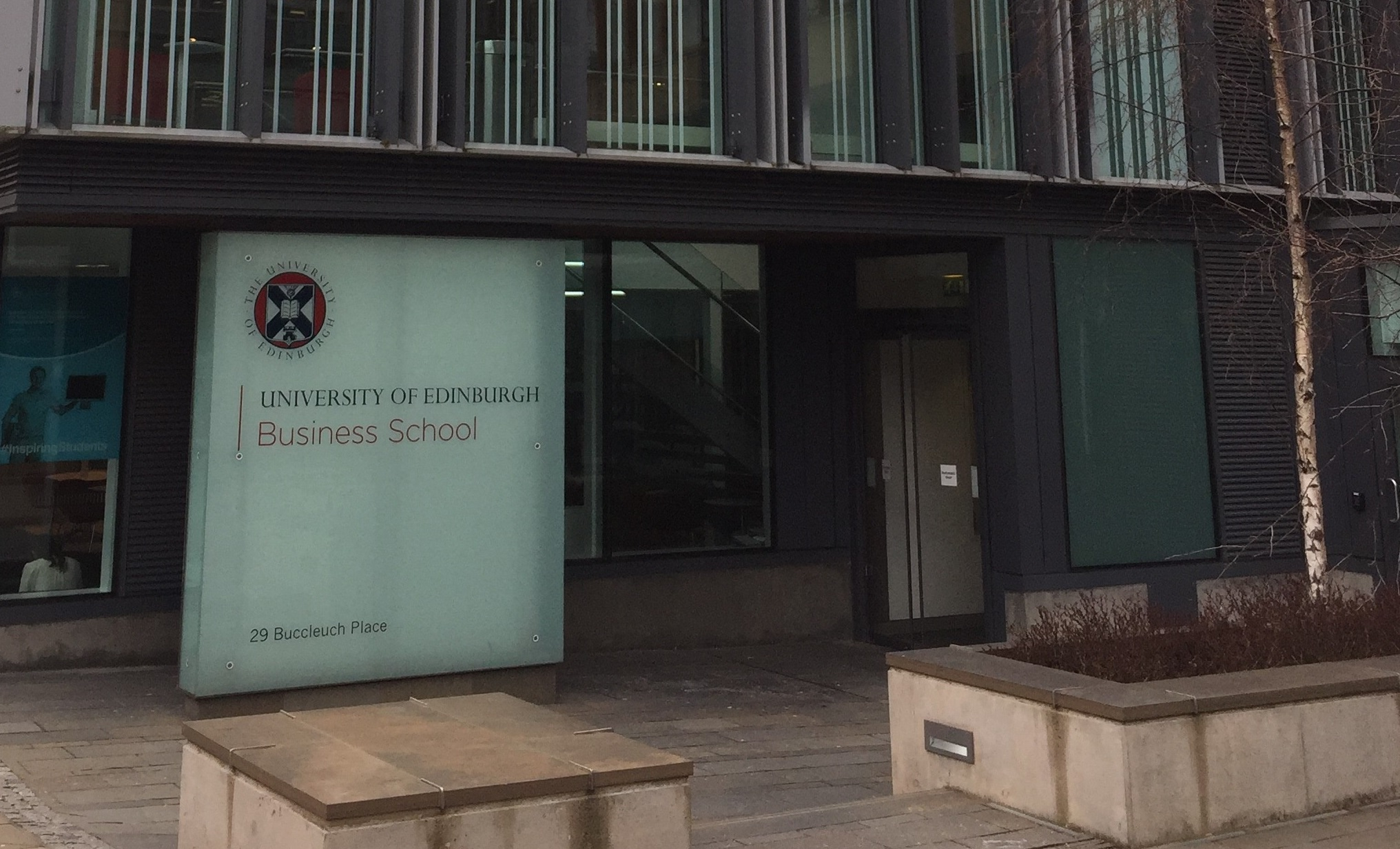 front door of Edinburgh business school
